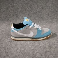 NIKE DUNK LOW PRO SB Blue/Grey Women/Men Sport Shoes Casual Sneakers