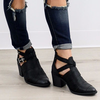 Smokin Moto Black Ankle Boots