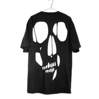 shopwithasianstereotypes: skull cut out tee