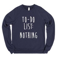 To-Do List: Nothing-Unisex Navy Sweatshirt