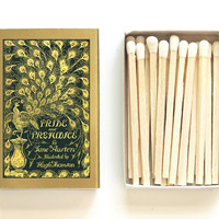 Pride and Prejudice - Book Covered Matchbox - Jane Austen - Pair with a Candle - Classic Novel - Writer Gift - Light a Literary Spark