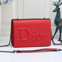 DIOR new product solid color chain messenger bag shoulder bag lady shopping bag