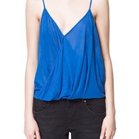 FINE DRAPED CAMISOLE TOP - Shirts - TRF - Sale | ZARA United States