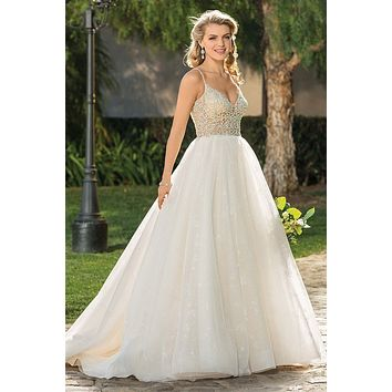 Casablanca 2335 Effie V-Neckline Beaded Ballgown Wedding Dress