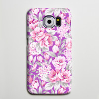 Classic Violet Pink Floral iPhone 6 Galaxy s6 Edge Plus Case Galaxy s6 Case Samsung Galaxy Note 5 Case s6-080