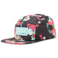 Diamond Supply Co Floral Black 5 Panel Hat