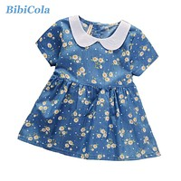 Spring Summer Baby Dress Casual Style Baby Girls Dress High Quality Kids Girls Cotton Floral Dress Baby Girl Clothes