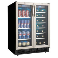 Danby DBC2760BLS: Silhouette 27-Bottle Built-In Wine Cooler and 60-Can Beverage Center