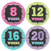 Pregnancy Baby Bump Week Stickers Style #913
