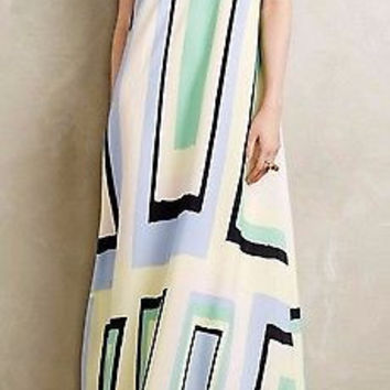 Anthropologie Abstracted Maxi Dress by Maeve M , L - NWT