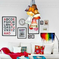 Throw Some Shade Multi Lampshade Ceiling Pendant Light