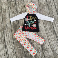 Live Love Dream Dot Hooded Set *CLOSES Sept 22nd* PREORDER #0015