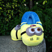Minion Slipper Plush Stuffed Funny Ciabatte Minions Jorge Animal Warm Winter Home Zapatillas Minions