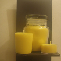 Delicate rose scented soy jar candle gift set, hand poured candles