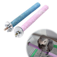 Colorful Pet Bird Chew Paw Grinding Toys Parrot Harness Cage Budgie Clean Tool Random color -Y103