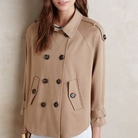 Cartonnier Cropped Swing Trench in Brown Size: