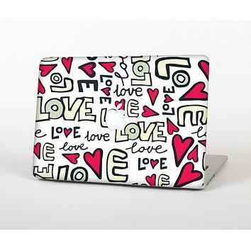 """The Love and Hearts Doodle Pattern Skin for the Apple MacBook Air 13"""""""