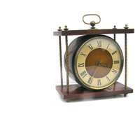 Soviet vintage table clock mechanical wind up clock with a key clocks collectibles old clock old clocks russian clock