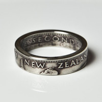 Coin Ring - New Zealand - 1 Shilling - Size 8