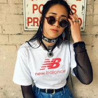 """NEW BALANCE""Fashion hot Leisure T-shirt top White"