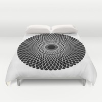 Mandala no 6 - inverted Duvet Cover by Hedehede