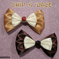 Chip OR Dale Hair Bow Disney Inspired