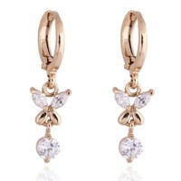 18K Gold Galvanized Zircon Earrings
