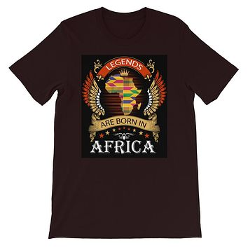 Legends Are Born In Africa Short-Sleeve Unisex T-Shirt