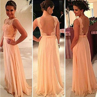 Fashion Prom Dress Ladies Sexy Sleeveless Backless Maxi Dress Formal Evening Party Date Cocktail Ball Gown Dress Bridesmaid Dress = 5841924289