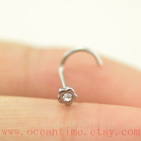 cute Nose ring,little flower, flower nose ring stud,316L Surgical Steel Nose Rings,girlfriend gift,oceantime