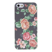 Vintage Design Colorful Flower Pattern Relief Hard Case for iPhone5