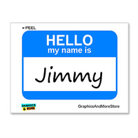 Jimmy Hello My Name Is Sticker