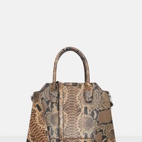 Missguided - Brown Snake Print Bag
