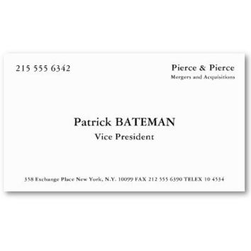 Patrick BATEMAN Business Cards from Zazzle.com