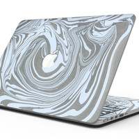 Marbleized Swirling Blue and Gray - MacBook Pro with Retina Display Full-Coverage Skin Kit