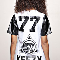 """KANYE WEST 77 YEEZY T-shirt white """"F""""   BBP Web Store  New Collection Saison 2014"""