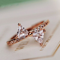 Bow in Style Rhinestone Ring - LilyFair Jewelry