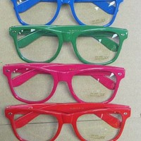 Neon Nerd Glasses Geek Dork Different Colors