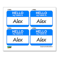 Alex Hello My Name Is - Sheet of 4 Stickers