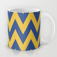 Team Spirit Blue and Gold Mug by Team Spirit