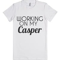 Working on my Casper Shirt-Female White T-Shirt