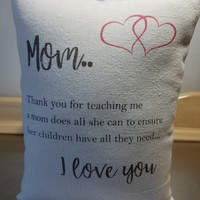 Pillows for mom mother gift canvas throw pillow mama gift