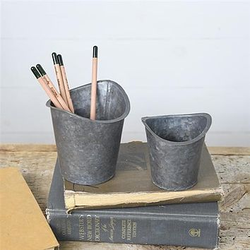 Set of 2 Tin Sifter Cups