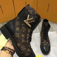 Louis Vuitton Women Fashion Casual Flats Shoes Boots Shoes-6