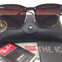DCCKIN2 RayBan ClubMaster Blazed GradIent Brown Lens Sunglasses RB3576N 043/13 (18)