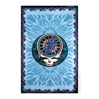 Grateful Dead - Bloomin' Steal Your Face Tapestry on Sale for $27.95 at HippieShop.com