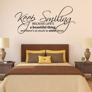 Keep Smiling Marilyn Monroe Wall Quote Wall Decal