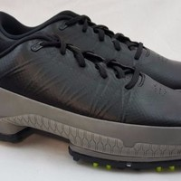 $175 Nike Air Zoom Attack Men's Golf Shoes Black Volt Grey 853739 002 Size 9.5
