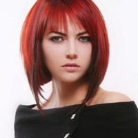 Famous Hairstyles: Short Dark Red Hair Color Ideas