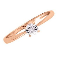 Diamond Accent Promise Ring in 14K Pink Gold